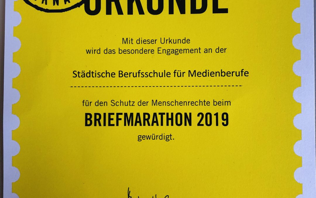 Amnesty International Briefmarathon