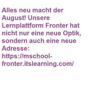 Alles neu macht der August – Lernplattform Fronter